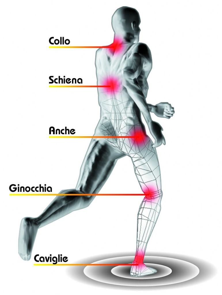 Curve cervicali e lombari di una spina dorsale